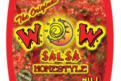 WOW Salsa Product Packaging